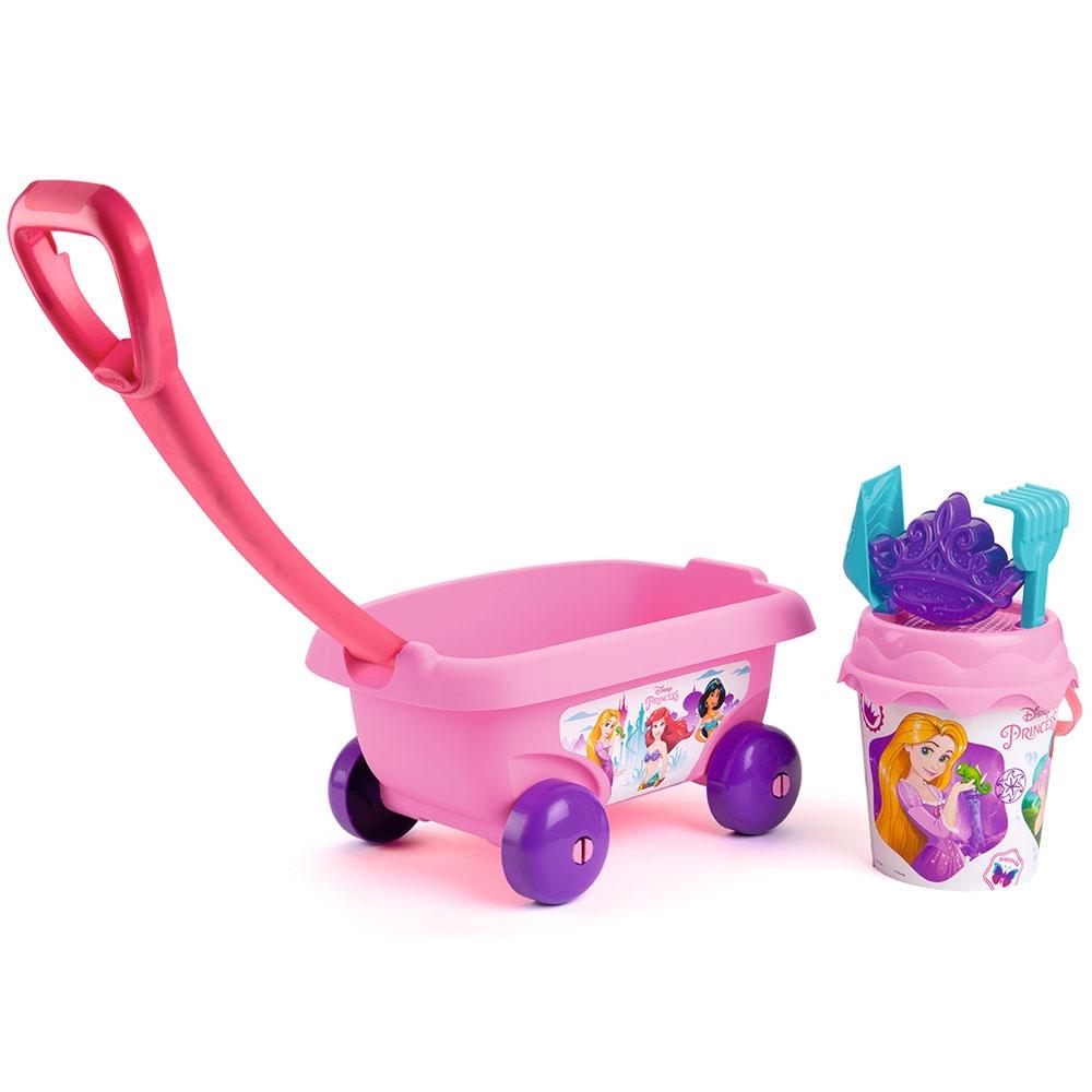 Set jucarii nisip Smoby Carucior Disney Princess cu accesorii imagine