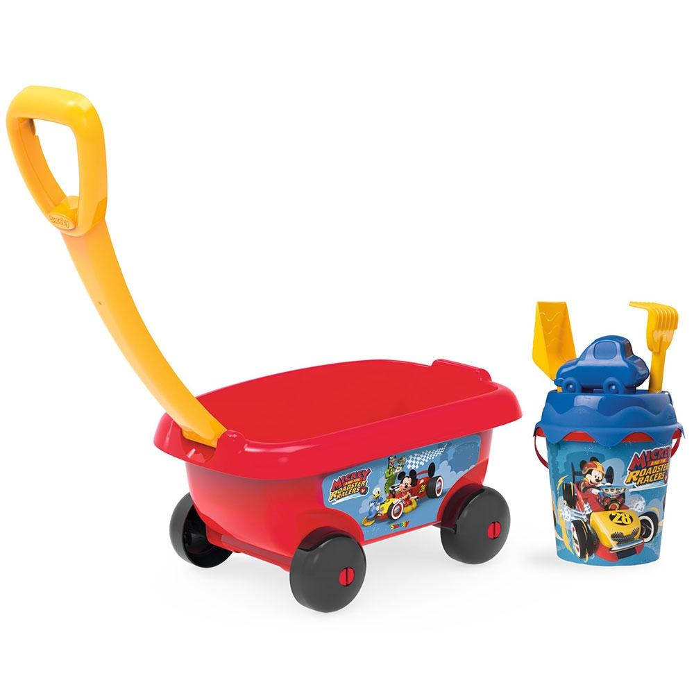 Set jucarii nisip Smoby Carucior Mickey cu accesorii imagine