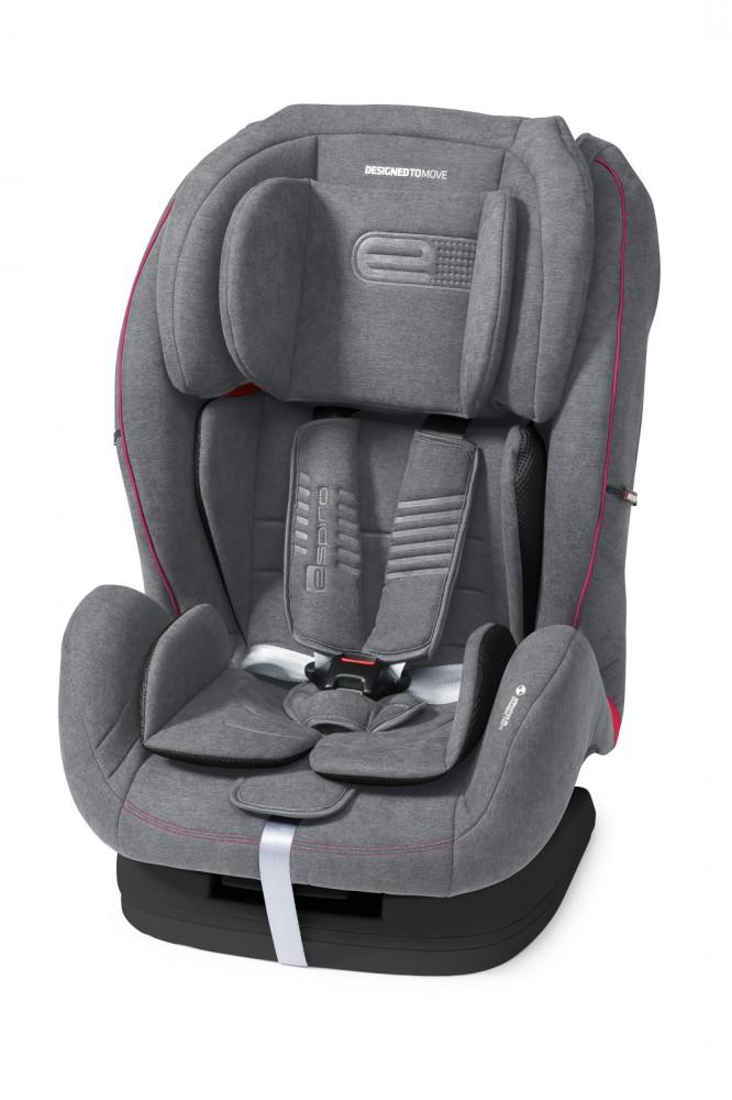 Espiro Kappa scaun auto 9-36 kg - 08 Gray&Pink 2019 imagine