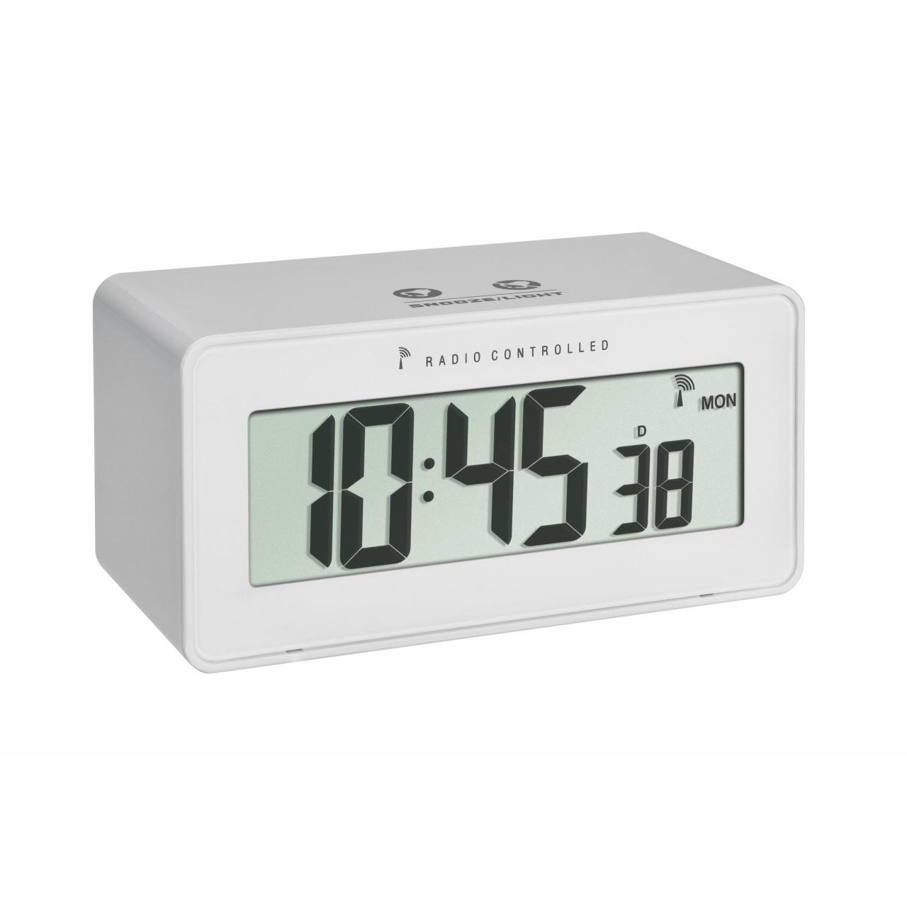 Termometru si higrometru cu ceas si ecran LCD iluminat TFA 60.2544.02 imagine