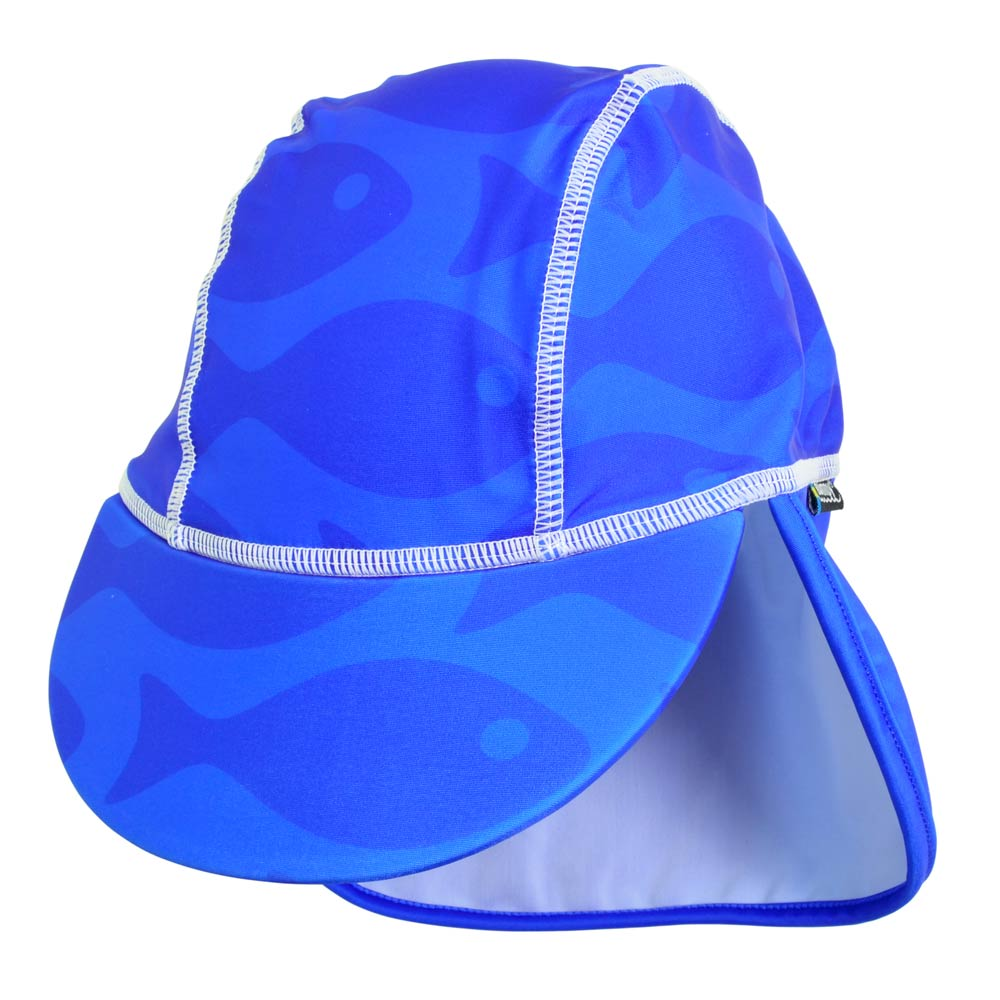 Sapca Fish blue 1- 2 ani protectie UV Swimpy imagine