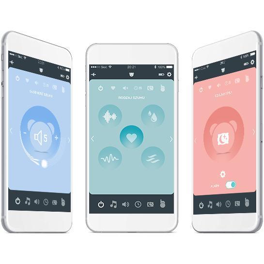 Ursulet myHummy Lena Premium + cu aplicatie pentru mobil si senzor de somn imagine
