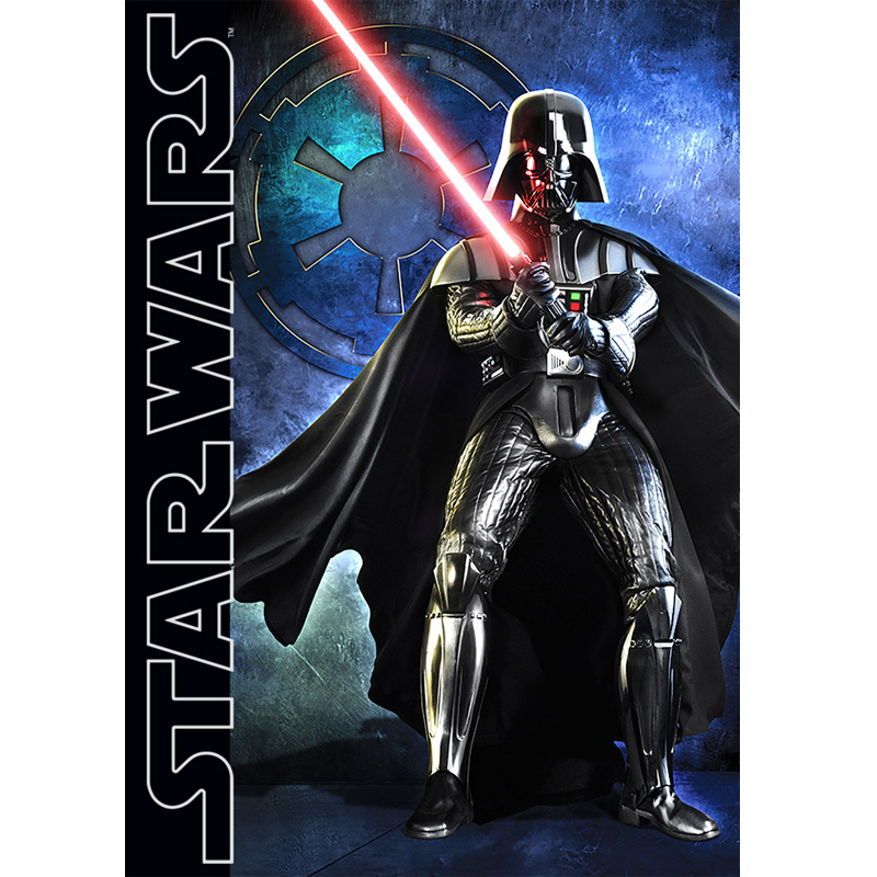 Covor camera copii Darth Wader Star Wars 95x133 cm Antiderapant