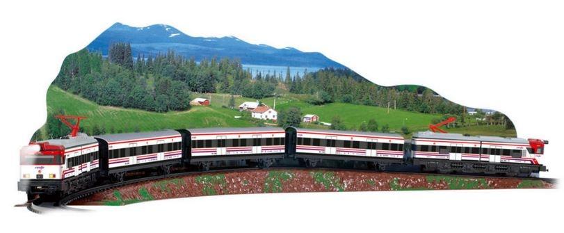 Trenulet electric de jucarie pentru copii Renfe Cercanias PEQUETREN 680