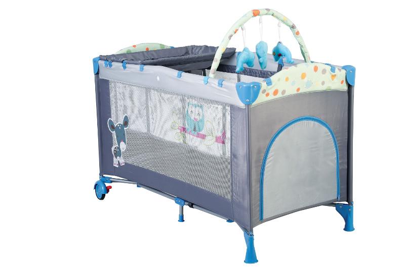 Babygo – Bgo4404 – Patut Pliant Cu 2 Nivele Sleepwell Blue