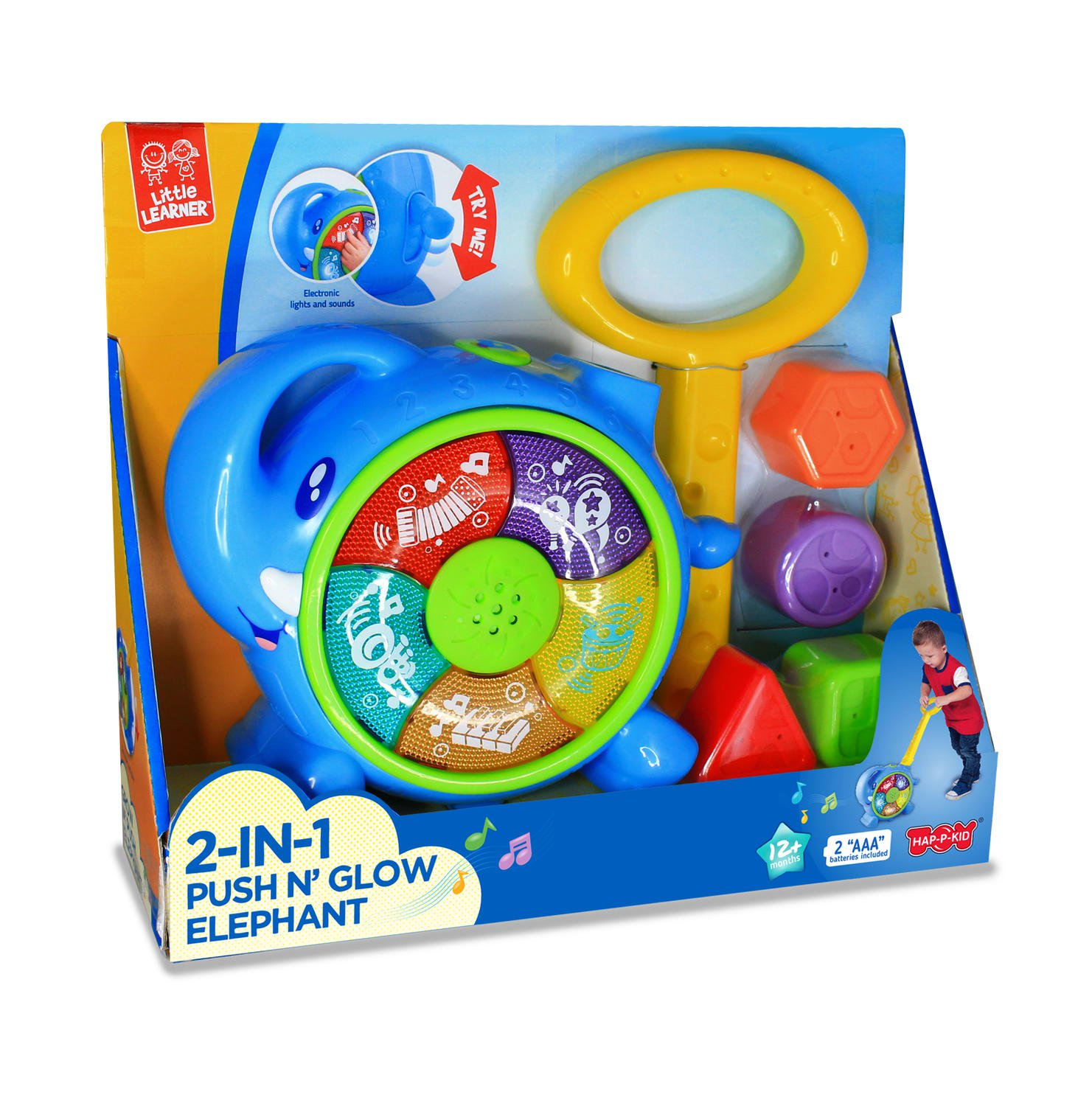 Jucarie de impins 2 in 1 - Elefantel imagine