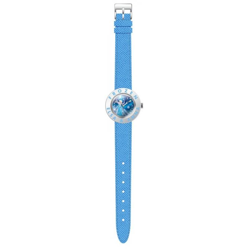 Ceas de mana analogic bleu cu colier Frozen Disney imagine