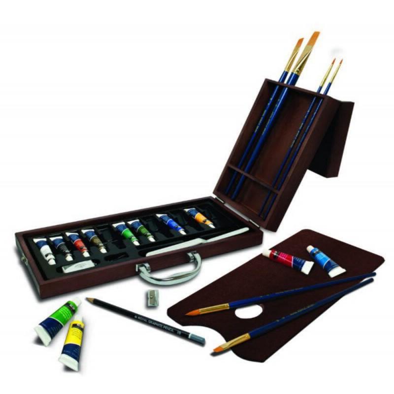 Trusa pictura culori acrilic imagine