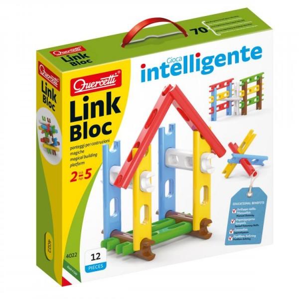 Set constructie Link Bloc 12 piese 4022 Quercetti pentru copii
