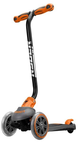 Trotineta pentru copii cu 3 roti Saica Ryder Neo 3401 cu roti din silicon reglabila pe inaltime pliabila portocaliu cu negru