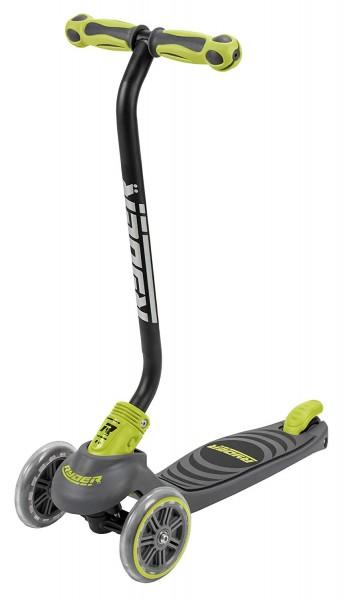 Trotineta pentru copii cu 3 roti Saica Ryder Neo 3402 cu roti din silicon reglabila pe inaltime pliabila galben cu negru