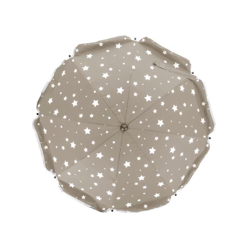 Umbrela pentru carucior 82 cm UV 50+ Stelute Natur Fillikid imagine