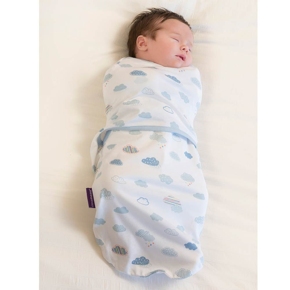 Sistem de infasare pentru bebelusi 0-3 luni blue Clevamama imagine