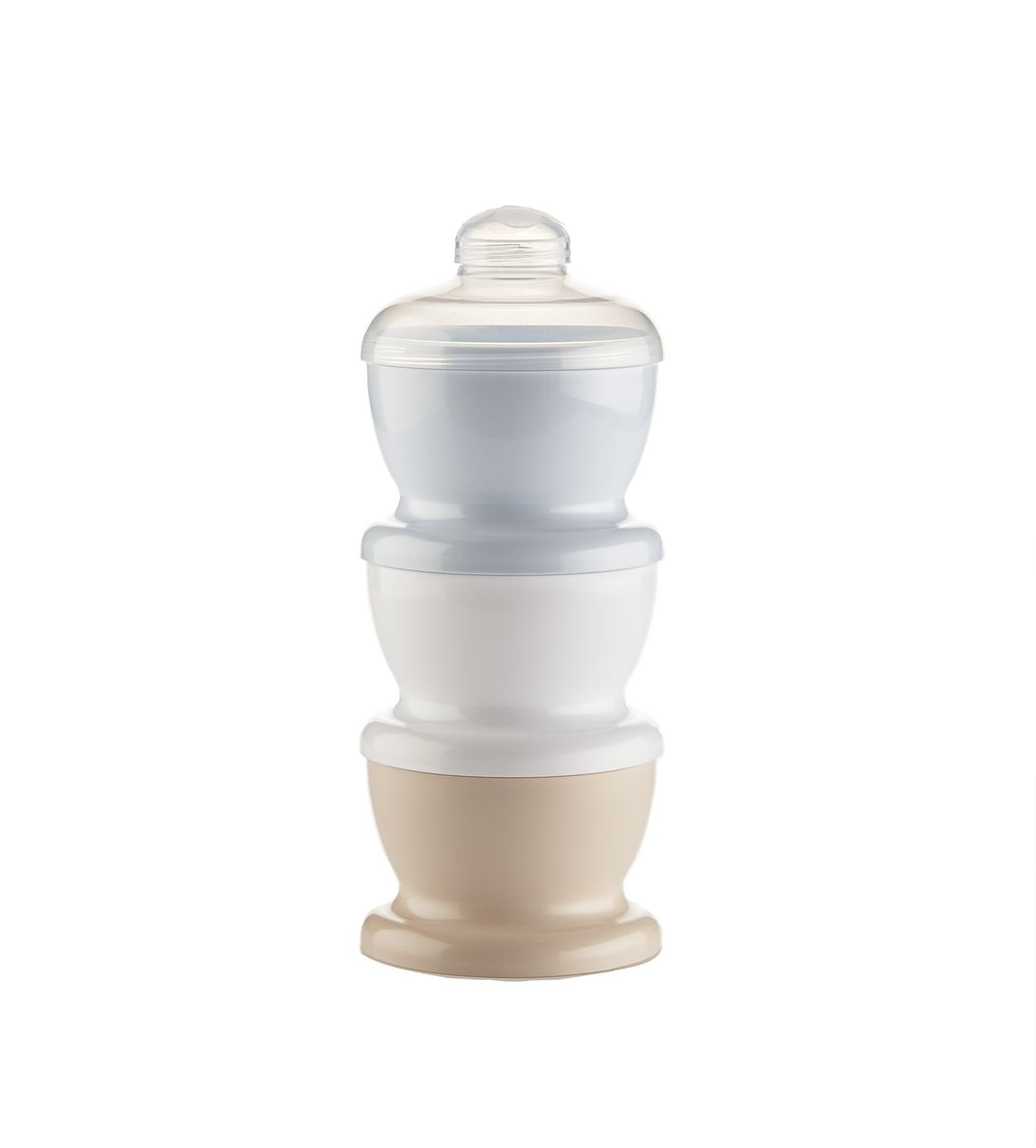 Recipient 3 compartimente lapte praf/ mancarica- Baby Blue imagine