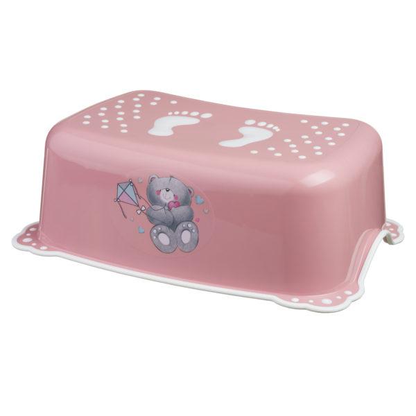 Taburet copii MyKids Bears Pink-White antialunecare imagine