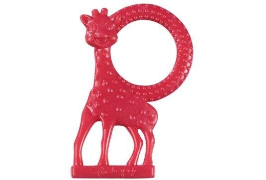 Vulli Inel dentitie vanilie in cutie cadou, Girafa Sophie Rosu imagine