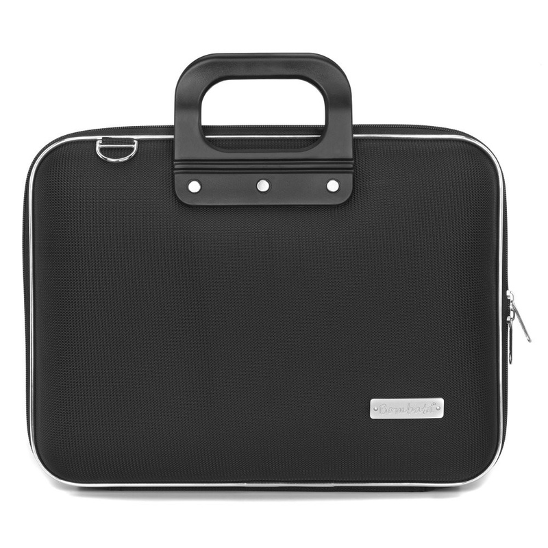 Geanta lux business laptop 13 in Nylon Bombata-Negru imagine