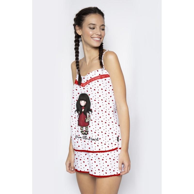 Pijama fete cu maiou Gorjuss From the Heart, scurte imagine