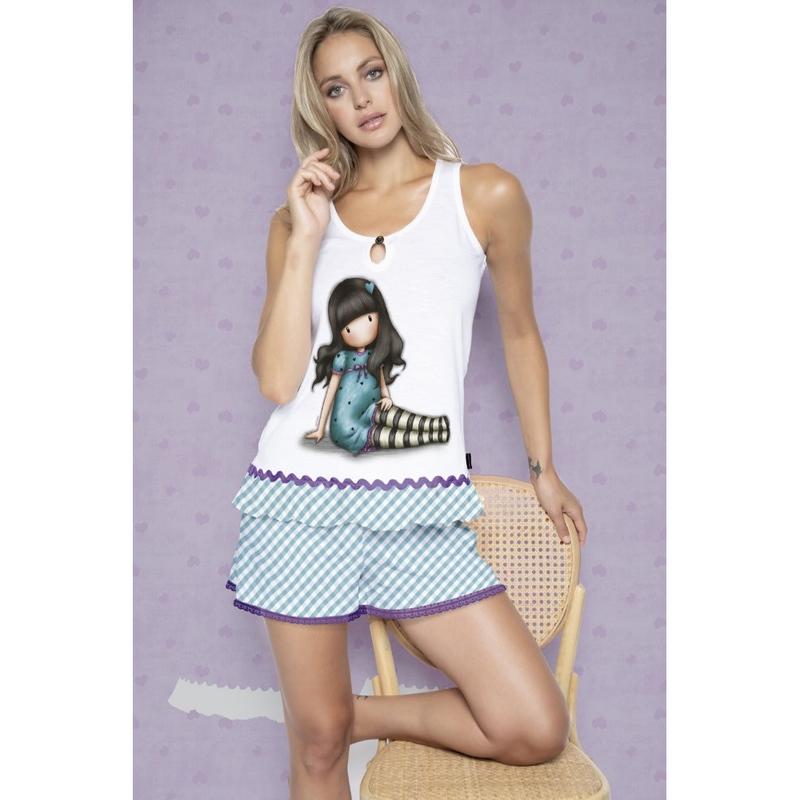 Pijama fete cu maiou Gorjuss Sitting Pretty, scurte imagine