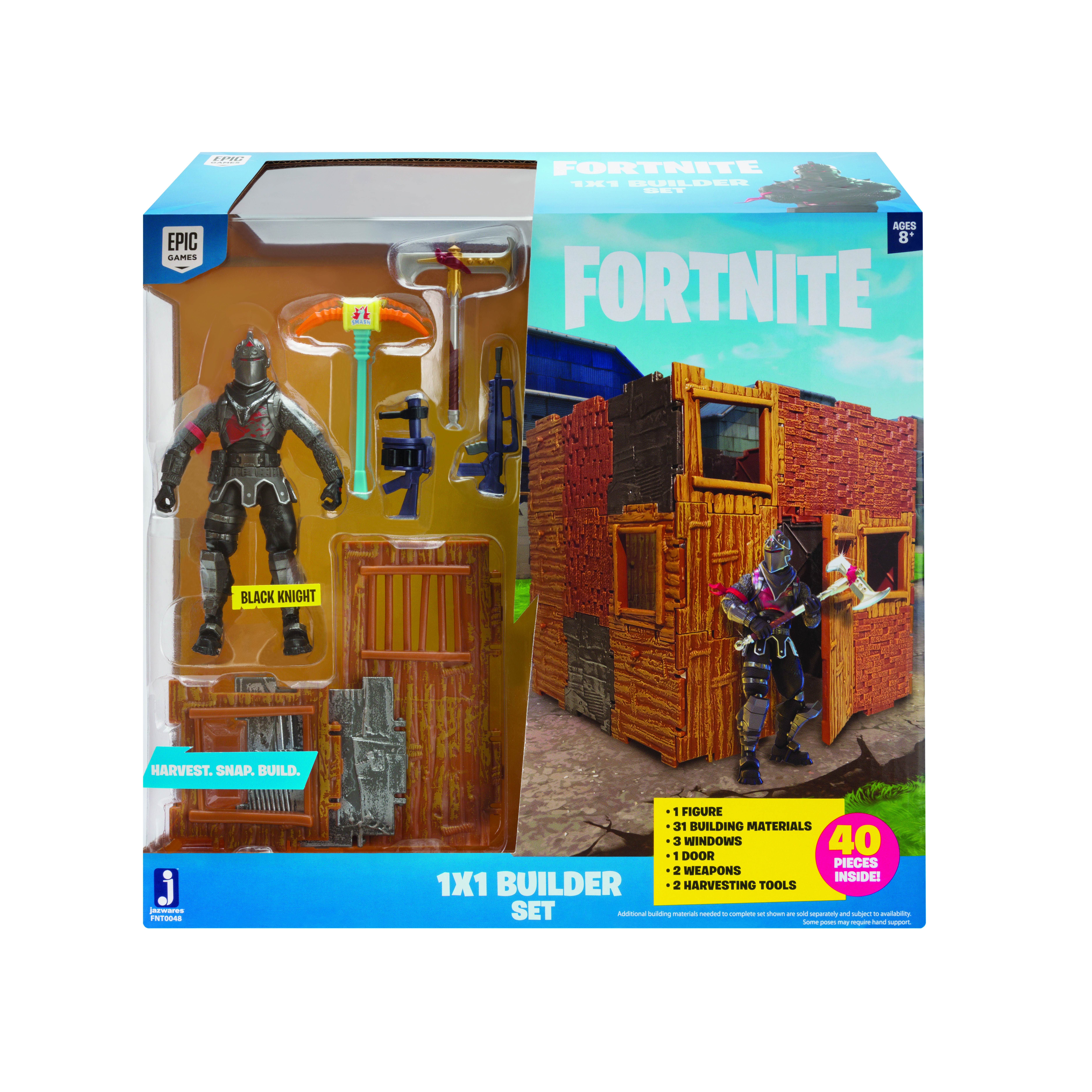 FORTNITE PACHET CU 1 FIGURINA (1x1 Builder Set) -BLACK KNIGHT S1