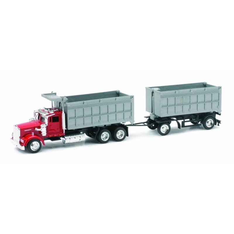 Camion diecast Kenworth W900 pentru gunoi