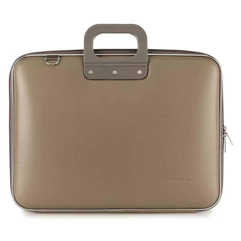 Geanta lux business laptop 17 in Maxi Bombata-Grej imagine