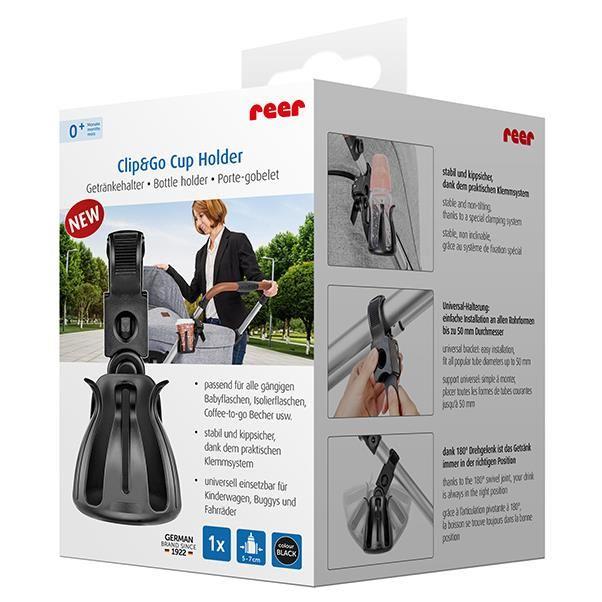 Suport pentru sticle si biberoane Clip&Go Cup Holder Reer 84021 imagine