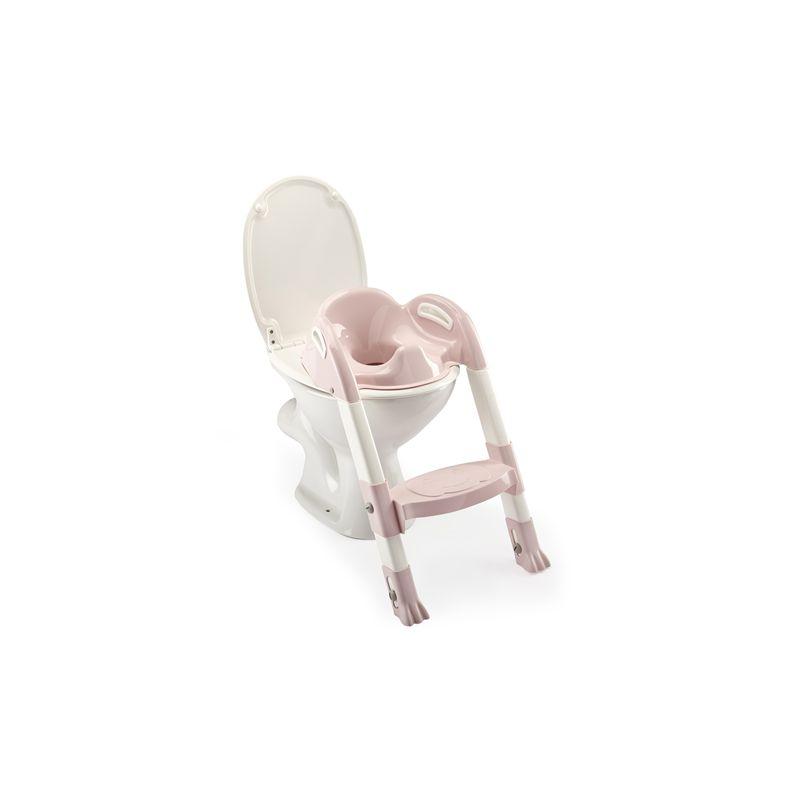 Reductor pentru toaleta cu scarita Kiddyloo POWDER PINK imagine