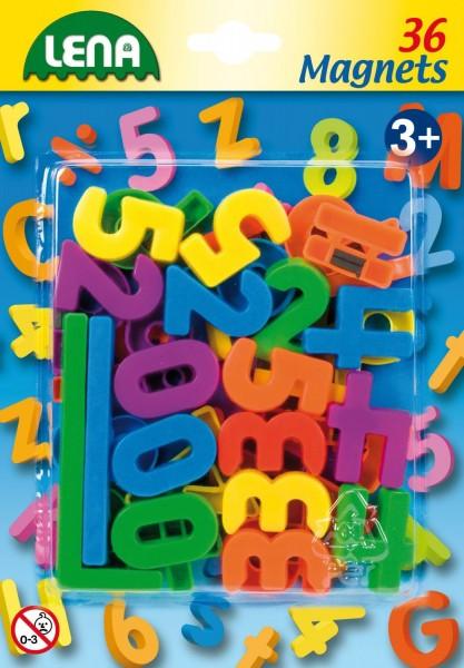 Set cifre si semne matematice magnetice Lena multicolore 36 piese 3 cm lungime image0