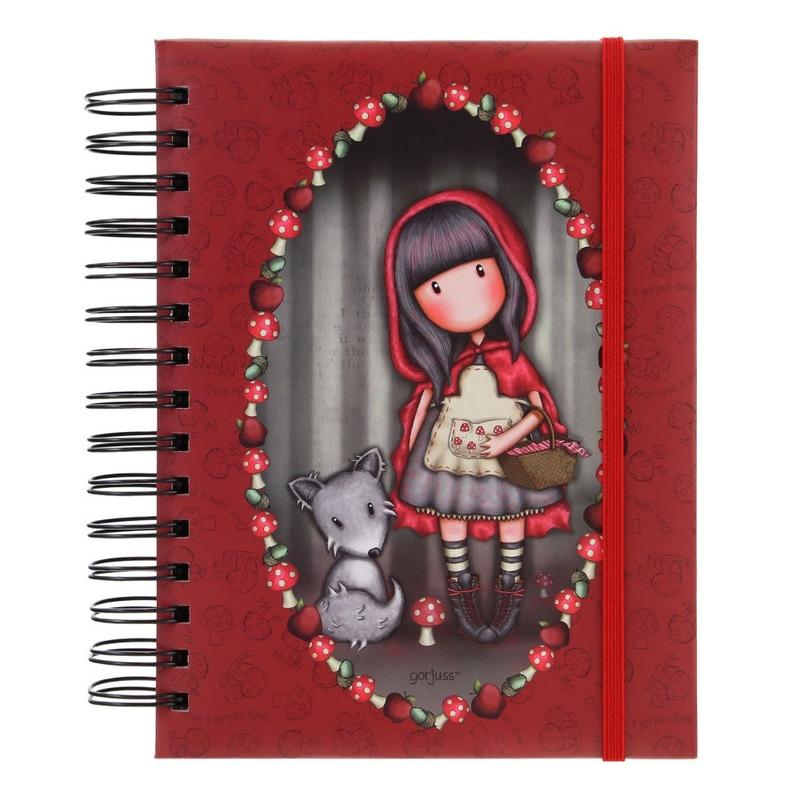 Agenda cu spira Gorjuss Little Red Riding Hood imagine