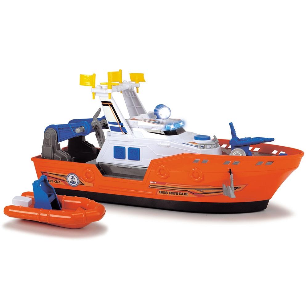 Barca de salvare Dickie Toys Harbour Rescue DT-37 cu accesorii