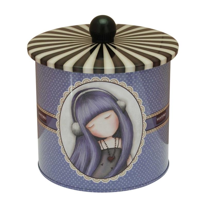 Cutie metalica pentru biscuiti Gorjuss Dear Alice imagine