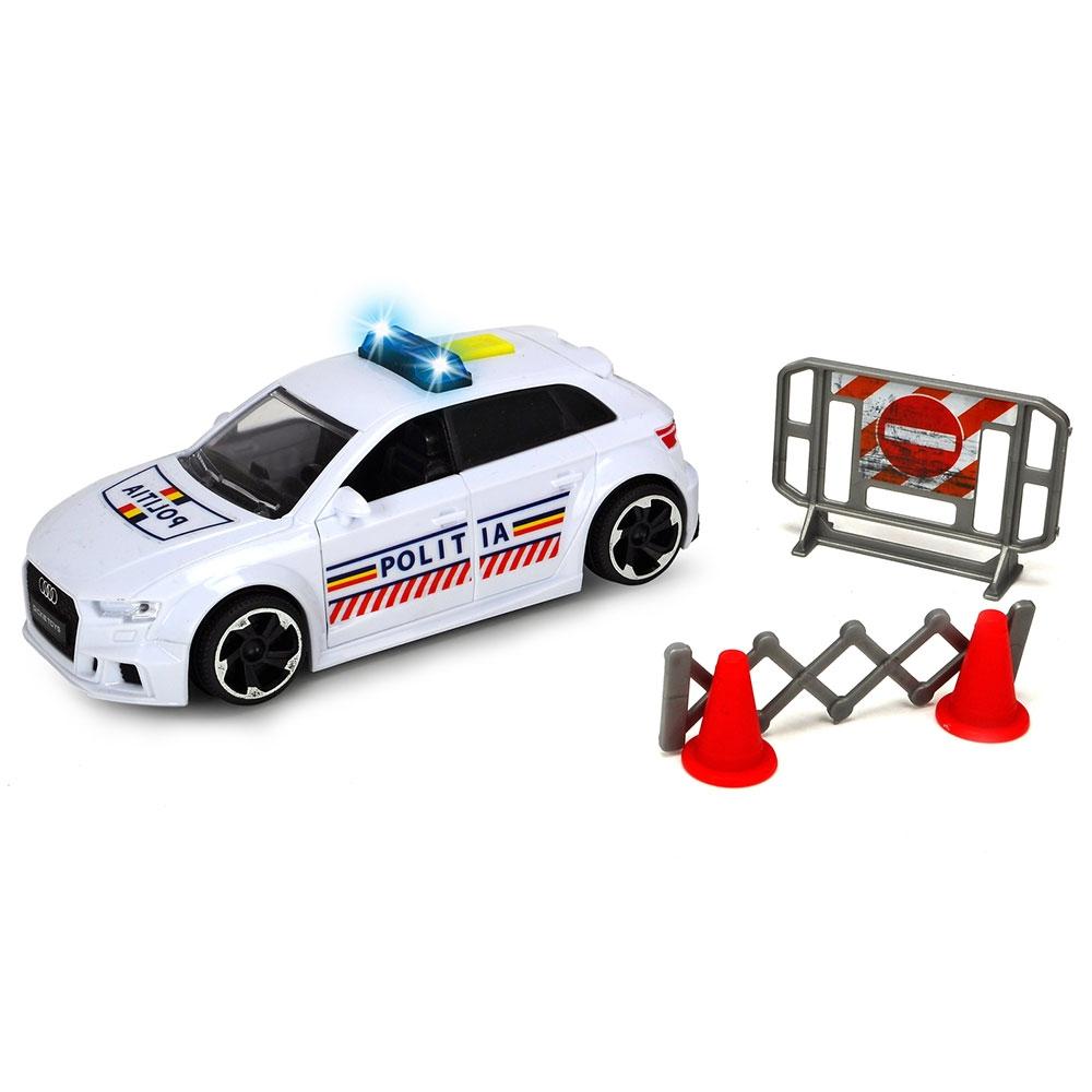 Masina de politie Dickie Toys Audi RS3 cu accesorii