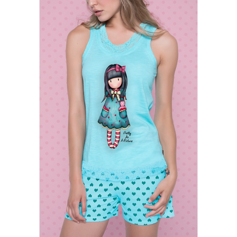 Pijama copii Santoro Gorjuss - Pretty as a Picture, scurte