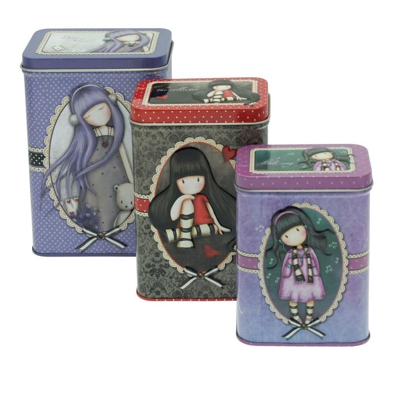 Set 3 cutii metalice Gorjuss Dear Alice The Collector Little Song. imagine
