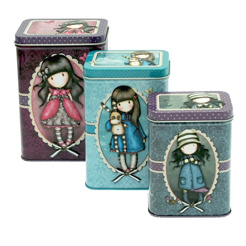 Set 3 cutii metalice Gorjuss Ladybird Hush Little Bunny Toadstools. imagine