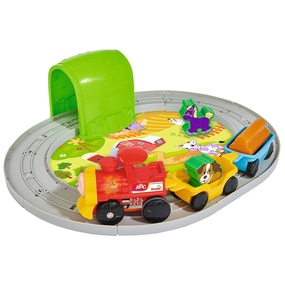 Set Simba Tren ABC Roll`n Rail cu sina circulara si accesorii