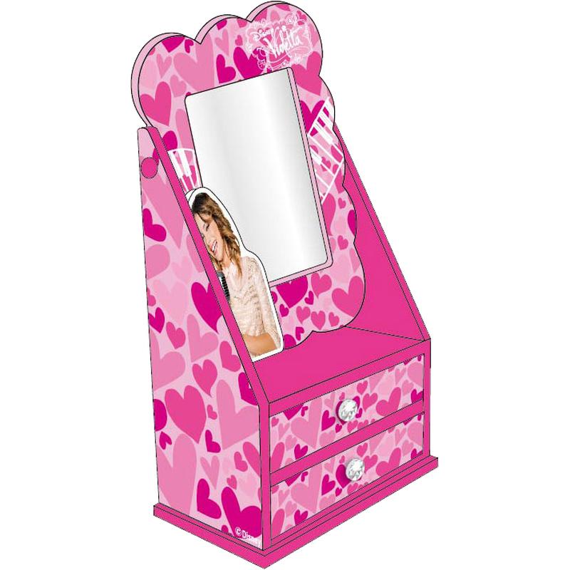 Caseta bijuterii cu oglinda Disney Violetta imagine