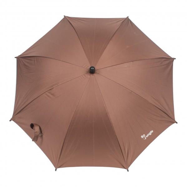 Umbrela pentru carucior copii Bo Jungle Bej cu factor protectie UV si prindere universala imagine