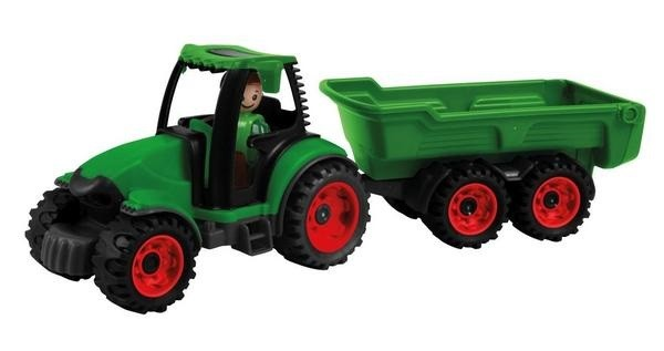 Tractor cu remorca Lena Truckies pentru copii Verde