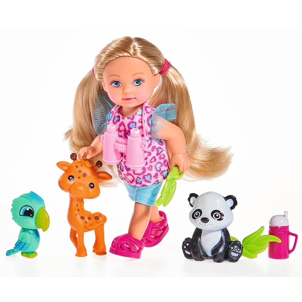 Papusa Simba Evi Love 12 cm Baby Safari cu figurine si accesorii