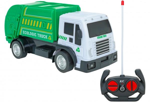 Camion gunoi cu telecomanda Globo Spidko 39401 scara 1:24 cu sunete si lumini
