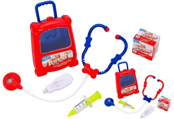 Mini troller cu accesorii doctor Globo pentru copii