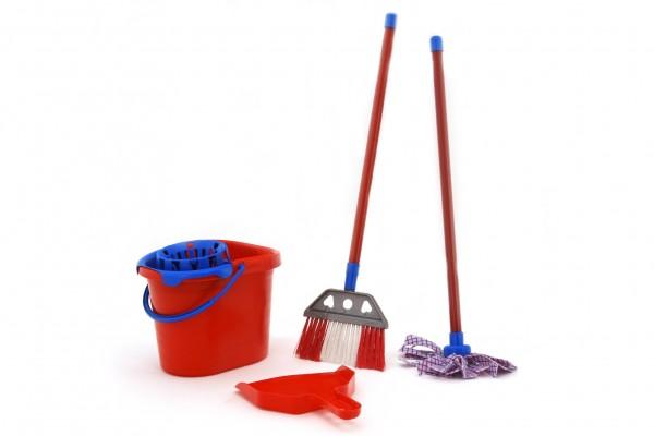 Set de curatenie pentru casa Globo cu mop matura galeata si foras pentru copii