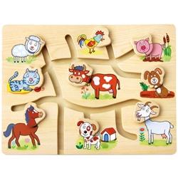 Labirint din lemn Animalele de la Ferma