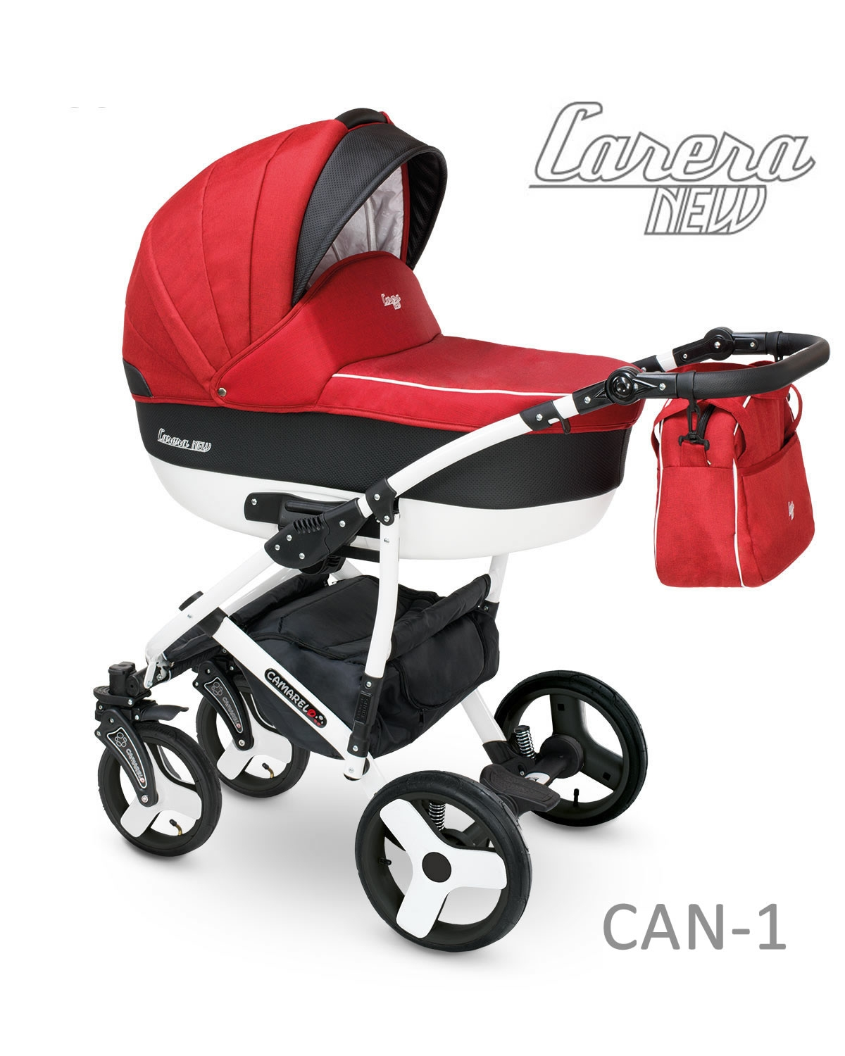 Carucior copii 2 in 1 Carera New Camarelo Can-1 imagine