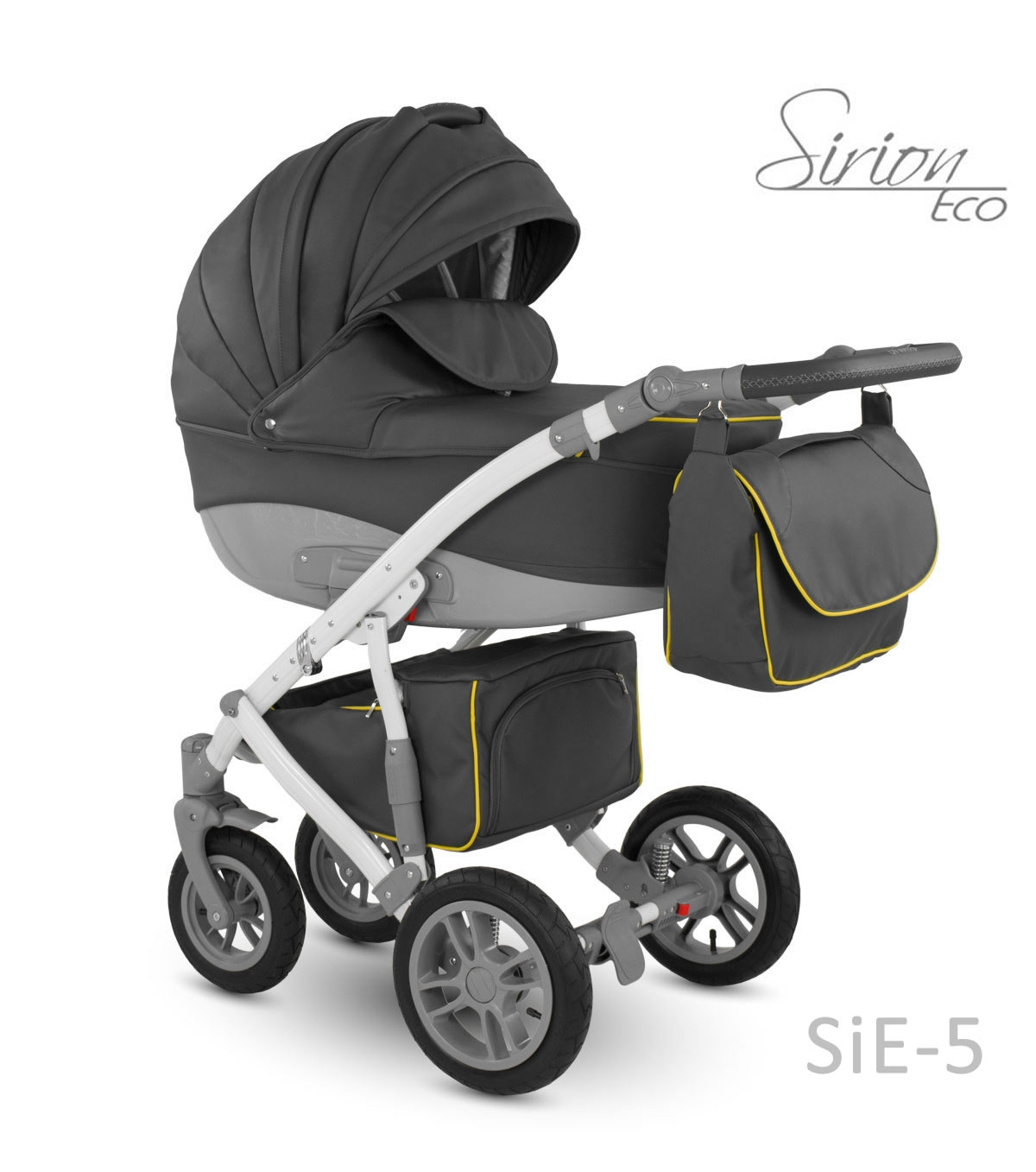 Carucior copii 2 in 1 Sirion Eco Camarelo SiE-5 imagine