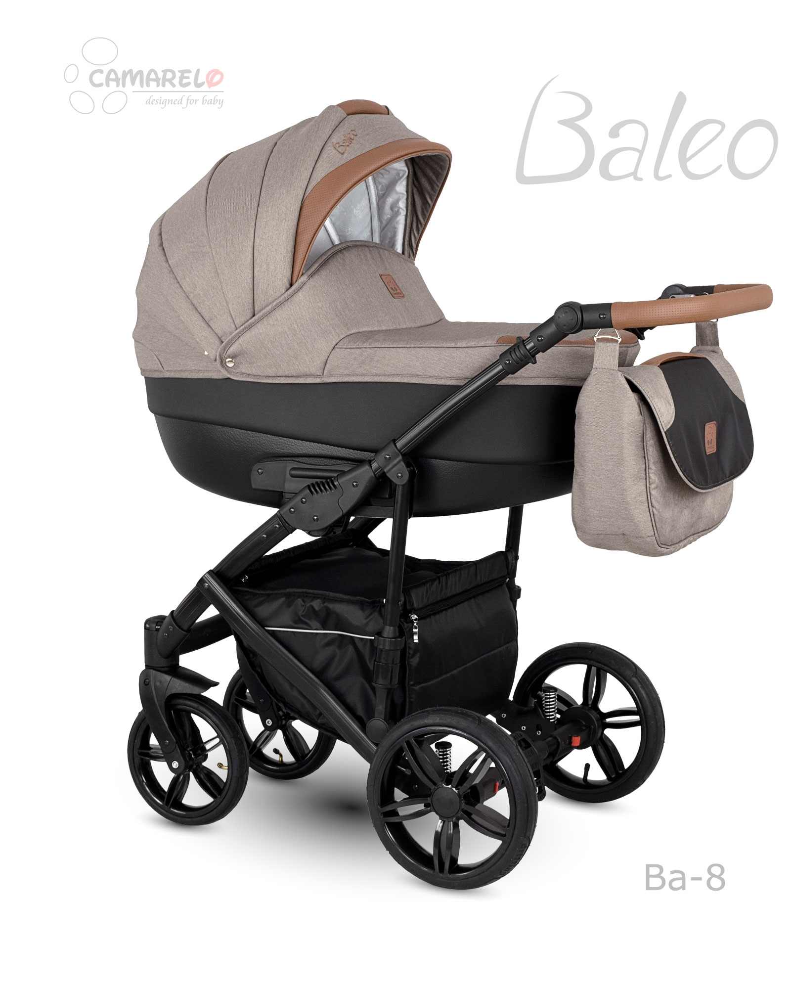 Carucior copii 2 in 1 Baleo 2019 Camarelo Ba-8 imagine