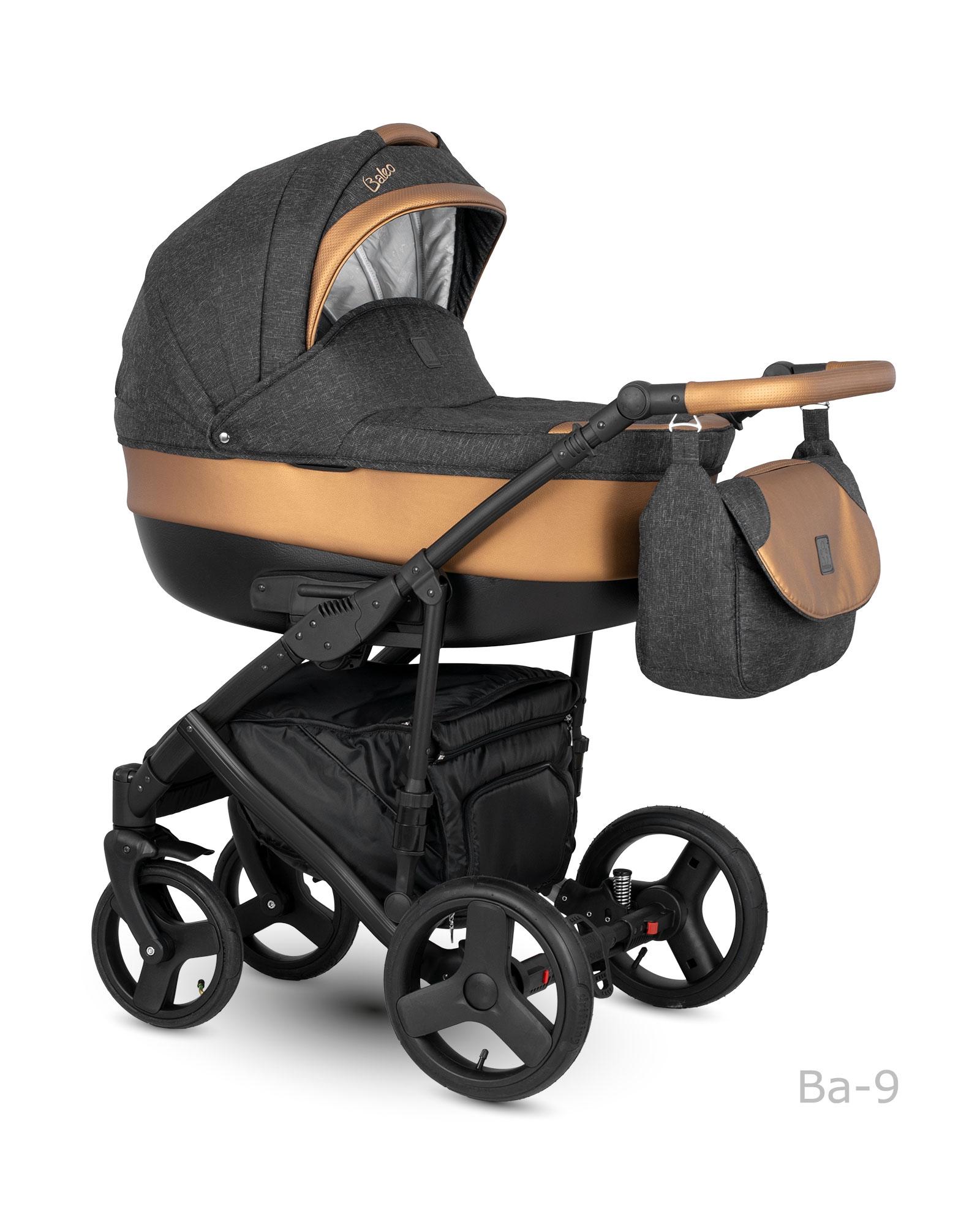 Carucior copii 3 in 1 Baleo Shine 2019 Camarelo BaS-9 imagine