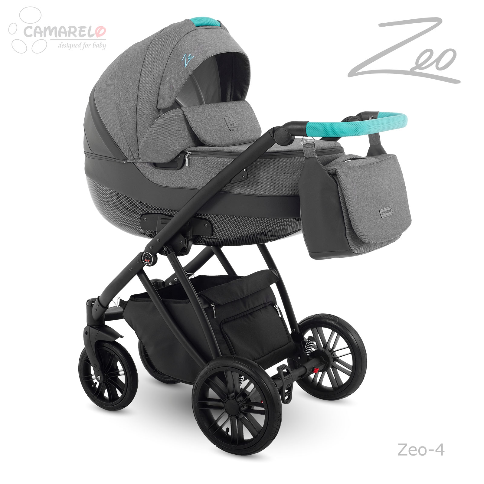 Carucior copii 2 in 1 Zeo Camarelo zeo-4 imagine
